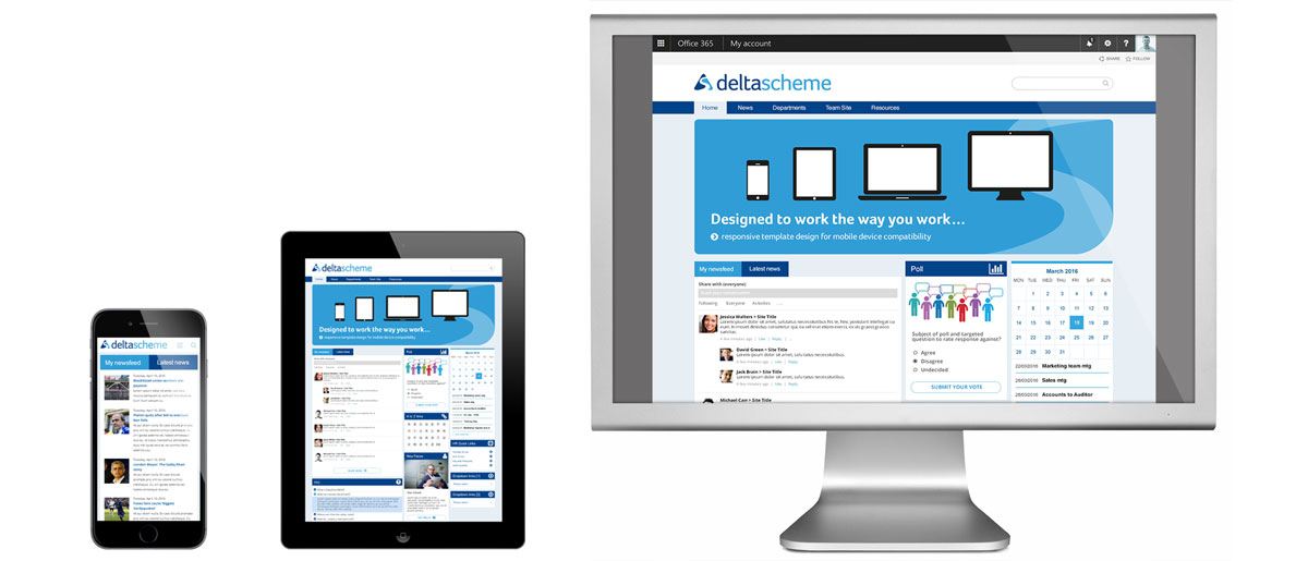 SharePoint mobile compliant Intranet